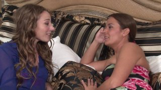 Streaming porn video still #2 from Mother-Daughter Lesbian Lessons