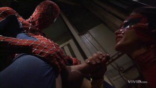Streaming porn video still #2 from Superman vs Spider-Man XXX: A Porn Parody