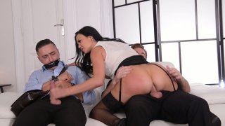 Streaming porn video still #6 from Kinky Threesomes Extreme