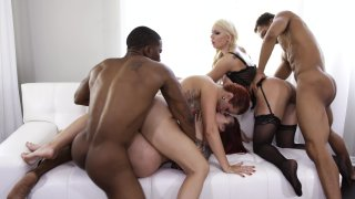 Streaming porn video still #19 from Muthas & Brothas Orgy 4