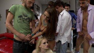 Streaming porn video still #9 from Slutty Girls Love Rocco 14