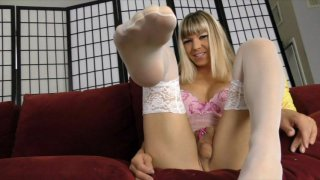 Streaming porn video still #2 from She-Male Strokers 82