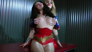 Streaming porn video still #5 from Wonder Woman! With Miss America And Power Girl