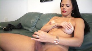 Streaming porn video still #9 from Tranny Panty Busters 6