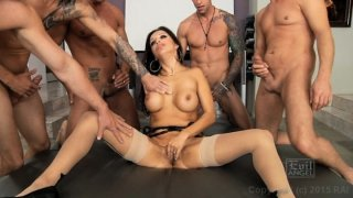 Streaming porn video still #4 from LeWood Gangbang: Battle Of The MILFs