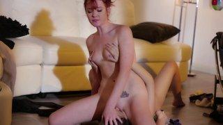 Streaming porn video still #6 from Lesbian Strap-On Bosses