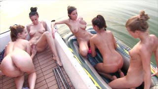 Streaming porn video still #6 from House Boat Full Of Teens