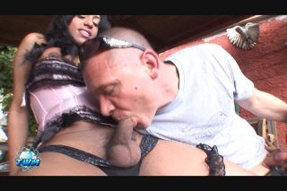 Streaming porn video still #1 from World's Biggest Transsexual Cocks, The