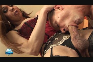 Streaming porn video still #3 from World's Biggest Transsexual Cocks, The