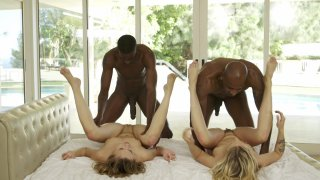 Streaming porn video still #6 from Interracial Orgies