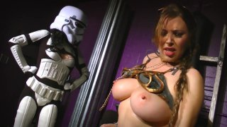 Streaming porn video still #3 from Perils of Slave Leia, The