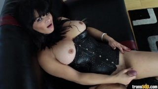 Streaming porn video still #4 from TS Cock Strokers 7: American Edition