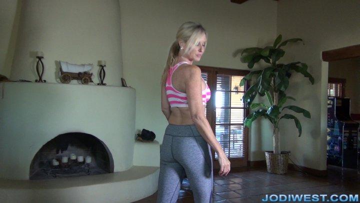 Jodi West - Yoga Pants, High Hells and Handjob for Stepson